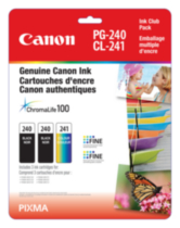Canon Canada Inc Canon PG-240 & CL-241 Club Pack Ink
