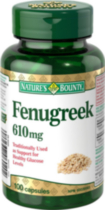 Nature's Bounty Fenugrec 610mg 100 capsules