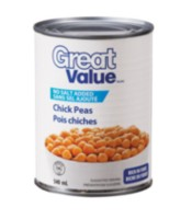 Pois chiches sans sel ajouté de Great Value