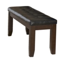 Topline Home Furnishings Brown Solid Wood Bench
