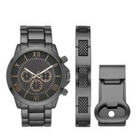 Trend Watches Men's Set with Matching Bracelet and Money Clip