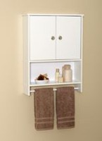 Mainstays White Wood 2-Door Wall Cabinet