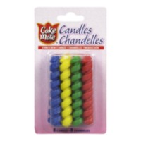 Cake Mate Corkscrew Candles, 8 Candles