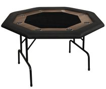 Octagonal Poker table with racetrack 8 players