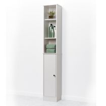 Ordinaire Mainstays White Wood Linen Tower