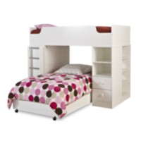 "South Shore Logik Twin Loft Bed (39"") White"