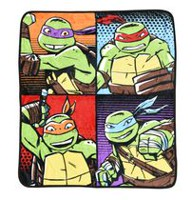 Teenage Mutant Ninja Turtles Silky Soft Throw