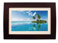 "Sylvania 10"" Wood Photo Frame with Remote"