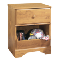 Table de chevet à 1 tiroir collection Little Treasures de Meubles South Shore Pin