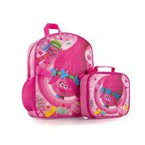 Heys Trolls Girls' Econo Backpack with Lunch Bag Kit