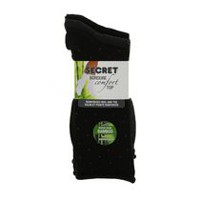 Secret Women's Bamboo Crew Socks Charcoal Black
