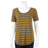 George Women's Scoop Neck Jersey Tee Grey M/M