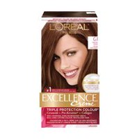 Coloration des cheveux permanante Triple Protection Colour Excellence Crème de L'Oreal Paris G1 Dark Ash Brown