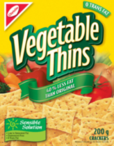Vegetable Thins 40% Less Fat Crackers