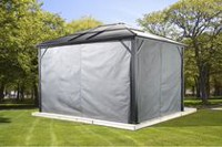 Sojag Meridien Gazebo Privacy Curtains 12 X 16 ft