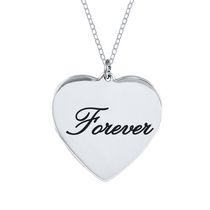 "Sterling Silver ""Forever"" Necklace"