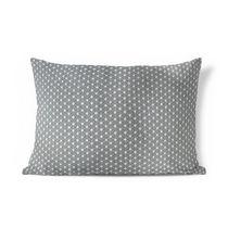 hometrends Boucle Grey Decorative Lumbar Pillow