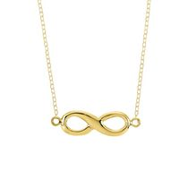 Collier infini en argent sterling plaqué d'or 14 ct