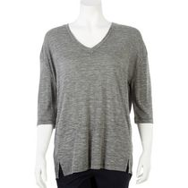 George Women's Drop Shoulder V-Neck Tee Grey XL/TG