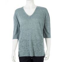 George Women's Drop Shoulder V-Neck Tee Teal L/G
