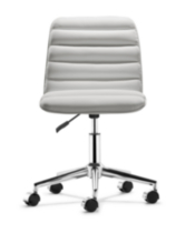 zuo admire office chair - White Armless Office Chair