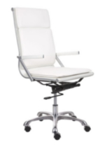 Zuo Lider Plus High Back Office Chair White
