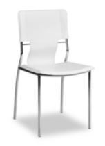 Zuo Trafico Leather Dining Chairs White