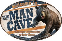 "River's Edge Welcome to the Man Cave Tin Sign 11""x16"""