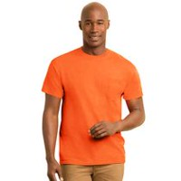 Gildan Apparel Workwear Men's Pocket T-Shirt Pack of 2 Orange M