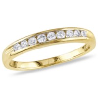 Miabella Bague éternité avec 1/4 CT de diamants en or jaune 14 K (G-H, I3) 6