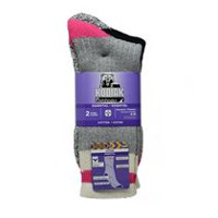 Kodiak Women's 2 Pair Work Socks Grey Pink / Black Pink