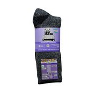 Pathfinder by Kodiak Women's 2-Pack Work Crew Socks Grey Mix Black / Black Grey
