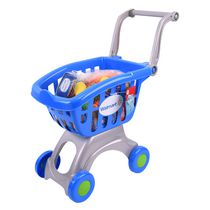 kid connection My Lil' Shopping Cart - Blue, 28 Pieces