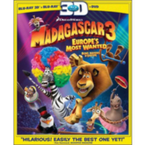 Madagascar 3: Europes Most Wanted 3D (Blu-ray 3D + Blu-ray + DVD) (Bilingual)