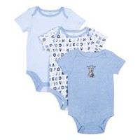 George baby Boys' Bodysuits; 3-Pack 6-12 months
