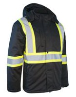 Forcefield Softshell Winter Men's Safety Jacket Black L