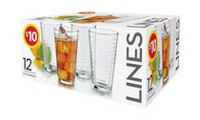 Libbey Lines Glass Set - 12 Piece