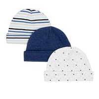 George baby Boys' Cotton Cap; 3-Pack