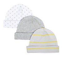 George baby Unisex Cotton Cap; 3-Pack