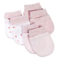 George baby Girls' Scratch Mittens; 3-Pack