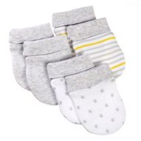 George baby Unisex Scratch Mittens; 3-Pack