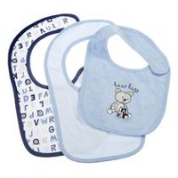 George baby Boys' Cotton Bibs; 3-Pack