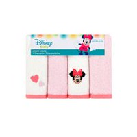 Disney Girls' Minnie Mouse Washcloths - Pack of 4