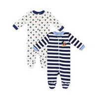 Disney Boys' Mickey Mouse Sleep 'N Play Sleepers - Pack of 2 Newborn