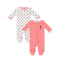 Disney Girls' Minnie Mouse Sleep 'N Play Sleepers - Pack of 2 Newborn