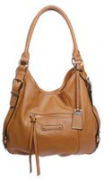 George Women's Four Poster Shoulder Bag with Tag Cognac