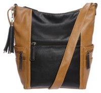 George Women's Shoulder Bag Black/Cognac