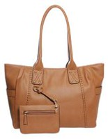 George Women's Tote Bag with Pouch Cognac