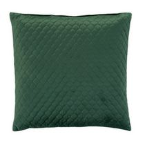 hometrends Quilted Velvet Emerald Decorative Pillow