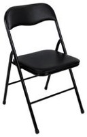 Cosco Vinyl Folding Chair, Black